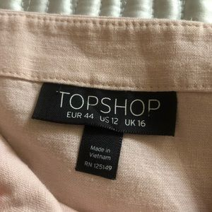 Topshop Dresses - TopShop Blush Linen Dress - 12
